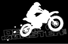 Enduro Motorcycle Dirt Bike Silhouette Decal Sticker