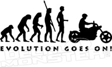 Evolution Goes on Motorcycle Decal Sticker