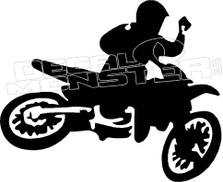 Rider Air Dirt Bike Silhouette Decal Sticker