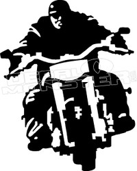 Motorcycle Rider Silhouette Decal Sticker