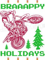 Braaappy Holidays Decal Sticker
