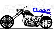 Motorcycle Chopper Silhouette Decal Sticker