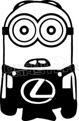 Minion Lexus Decal Sticker