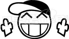 JDM Piston Guy Middle Finger Decal Sticker