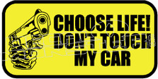 Don't Touch My Car Decal Sticker