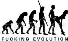 Fucking Evolution Funny Decal Sticker