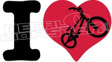 I Heart Bmx Decal Sticker