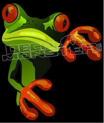 Rainforest Frog 1 Decal Sticker