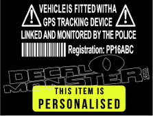Vehicle is GPS Monitored by Police Decal Sticker