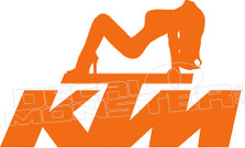 KTM Hot Girl Decal Sticker