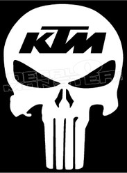 KTM Punisher Skull Decal Sticker