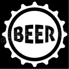 Beer Bottle Cap Decal Sticker