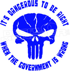 Punisher Government Decal Sticker