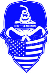 Dont Tread on Me Badass Decal Sticker