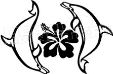 Aloha Dolphins Decal Sticker