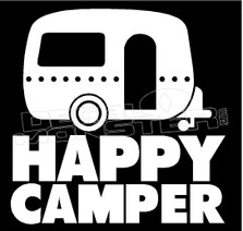 Happy Camper Decal Sticker