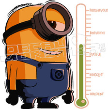 Minion Scale Decal Sticker