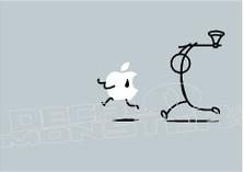 Apple Mac Hatchet Man Decal Sticker