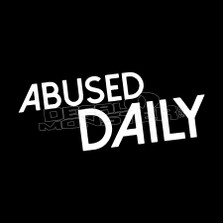 Abused Daily JDM Decal Sticker