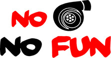 No Turbo No Fun JDM Decal Sticker
