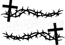 Christianity Cross 3 Religious Decal Sticker