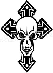Skull & Cross Decal Sticker