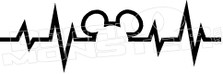 Disney Mickey Heartbeat 14 Decal Sticker