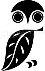 Owl Silhouette 2 Decal Sticker