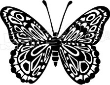 Butterfly Silhouette 1 Decal Sticker