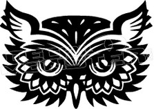 Wise Owl Silhouette 3 Decal Sticker
