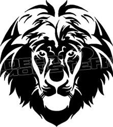 Lion Silhouette 1 Decal Sticker