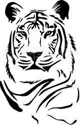 Tiger Silhouette 1 Decal Sticker