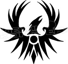 Phoenix Rising Silhouette 1 Decal Sticker