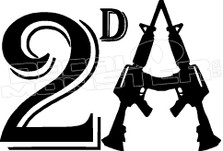 2nd Amendment Guns 1 Decal Sticker