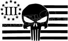 3%er Molon Labe Flag Punisher Decal Sticker