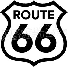 Route 66 1 Decal Sticker