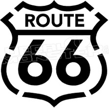 Route 66 2 Decal Sticker