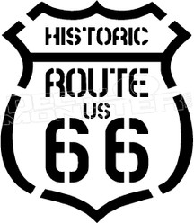 Route 66 4 Decal Sticker