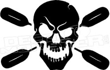 Skull and Paddles 1 Decal Sticker