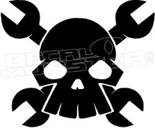 Punisher Skull and Wrenches 1 Decal Sticker