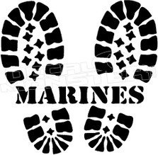 US Marines Boots 1 Decal Sticker