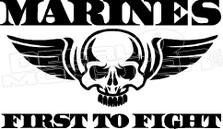 US Marines Flying Skull 2 Decal Sticker