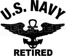US Navy Retired Decal Sticker