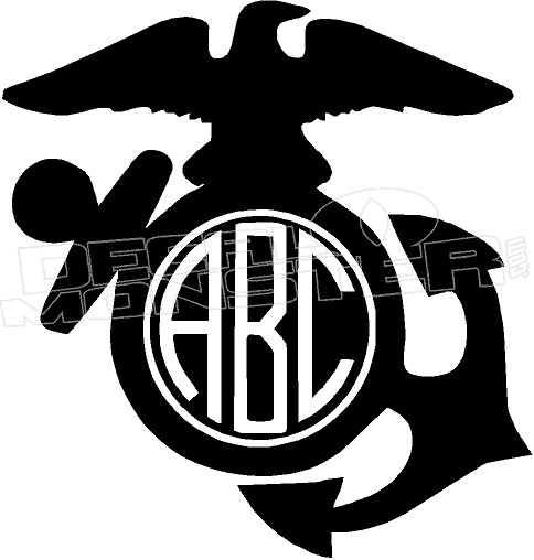Usmc Add Your Own Letters Decal Sticker Decalmonster