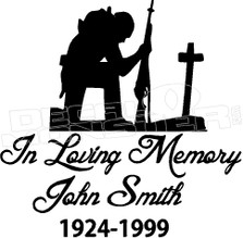 Army Catholic In Loving Memory Of... 2 Memorial decal Sticker