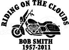Motorcycle In Loving Memory Of... 1 Memorial decal Sticker