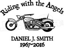 Motorcycle In Loving Memory Of... 3 Memorial decal Sticker