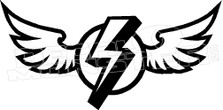 Flying Lightning Wings Decal Sticker