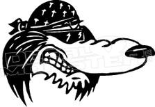 Biker Hound Dog 1 Decal Sticker
