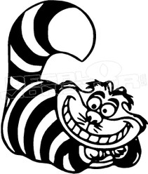 Cheshire Cat Cartoon Decal Sticker
